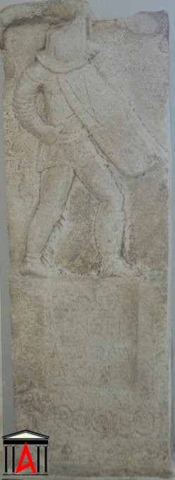 Relief of a gladiator, first or second century CE (Museum of Amphipolis)